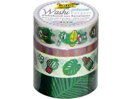 folia Washi Tape 4er Set Hotfoil irisierend