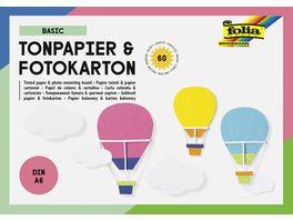 folia Tonpapier und Fotokarton Block BASIC DIN A6 60 Blatt 15 Farben sortiert