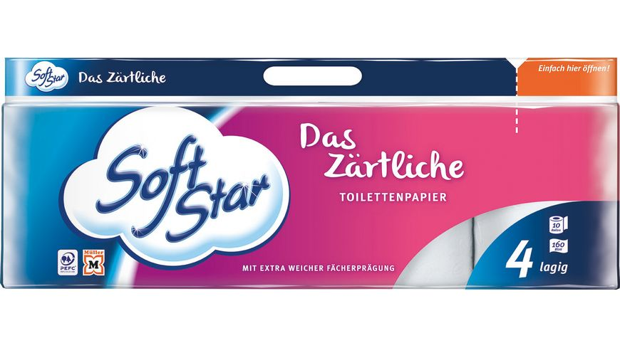 Softstar Toilettenpapier 10x160 Blatt 4 Lagig