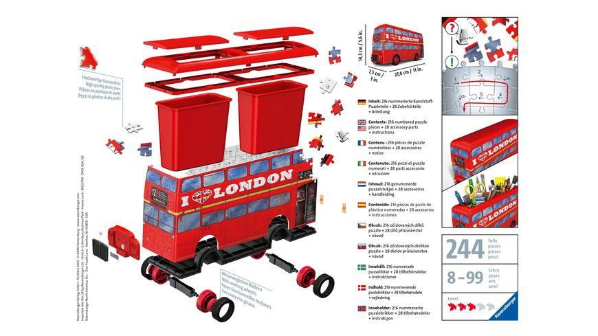 Ravensburger Puzzle 3D Puzzles London Bus