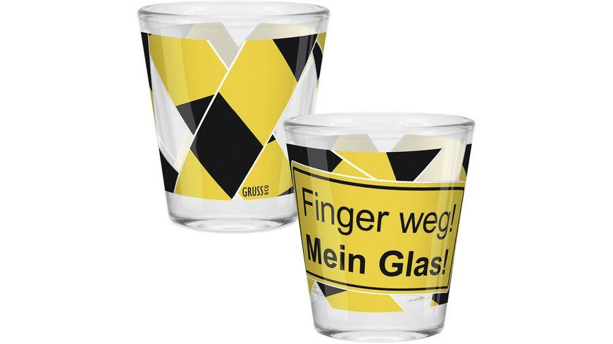 Gruss & Co Schnapsglas »Finger weg!«