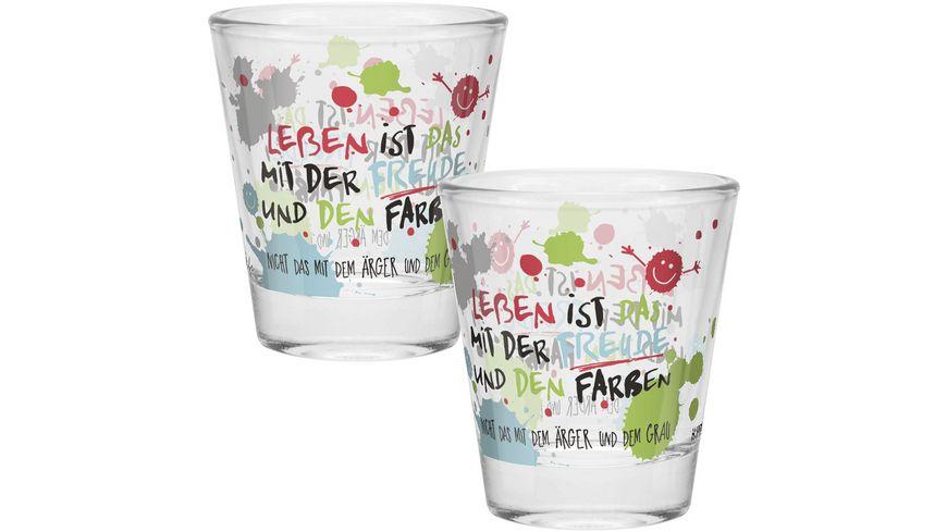 H:)PPYlife Schnapsglas »Freude«