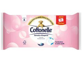 Cottonelle Feucht Toilettenpapier Sensitiv Pflegend Nachfueller