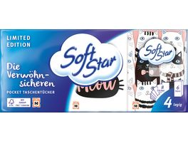 Softstar Pocket Taschentuecher 6x8 St 4 lagig