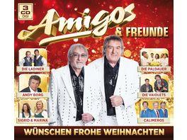 Amigos Freunde wuenschen frohe Weihnachten