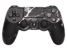 Skins Sticker fuer PS4 Controller Black Marble