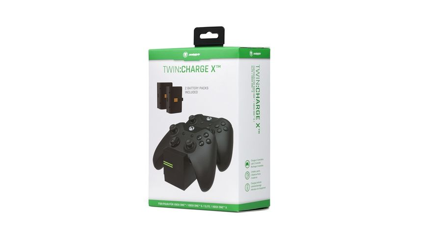 snakebyte Xbox One Twin Charge X black