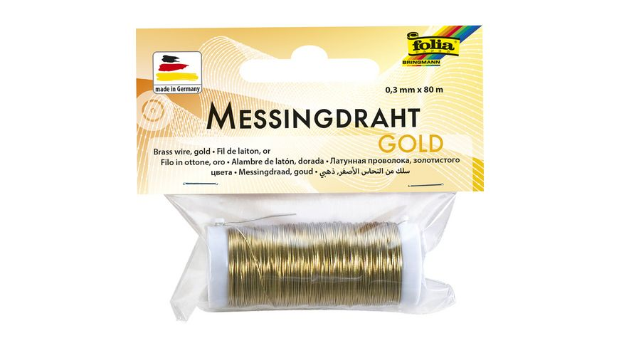 folia Messingdraht 0 3mm x 80m gold