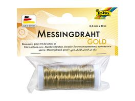 folia Messingdraht 0 3mm x 80m gold