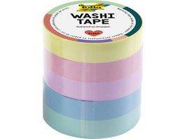 folia Washi Tape 5er Set pastell
