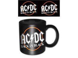 AC DC Back in Black Keramik Tasse