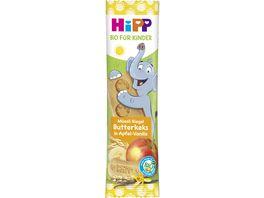 HiPP Bio fuer Kinder Mueesli Riegel Elefant 20g Butterkeks in Apfel Vanille ab 1
