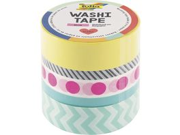 folia Washi Tape 5er Set neon pink