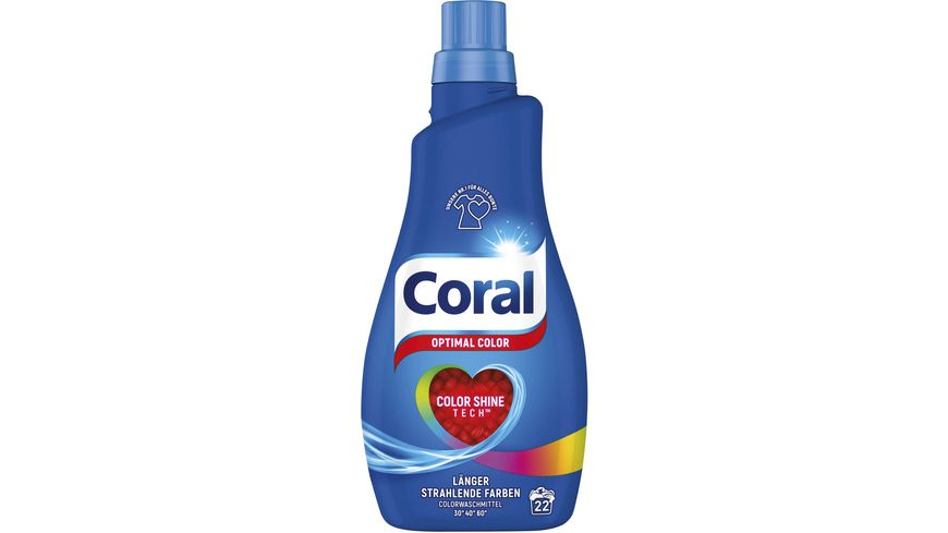 Coral Fluessigwaschmittel Optimal Color fluessig 22 WL