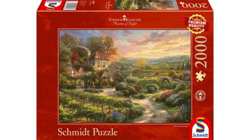 Schmidt Spiele Erwachsenenpuzzle In den Weinbergen Thomas Kinkade 2000 Teile