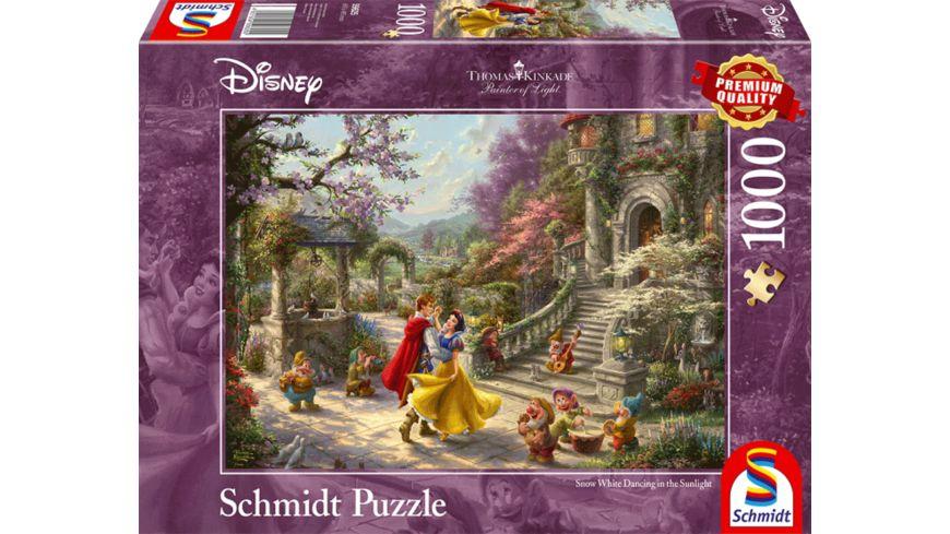 Schmidt Spiele Erwachsenenpuzzle Schneewittchen Tanz mit dem Prinzen Thomas Kinkade 1000 Teile