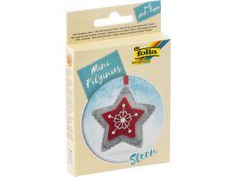 folia Mini Filz Naeh Sets 13teilig Stern