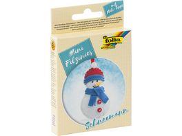 folia Mini Filz Naeh Sets 14teilig Schneemann