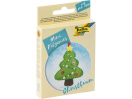folia Mini Filz Naeh Sets 21teilig Christbaum