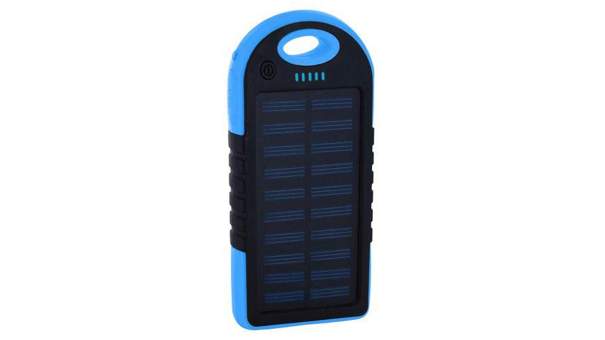 Zusatzakku Powerbank Serie Solar Black Blue 4000mAh