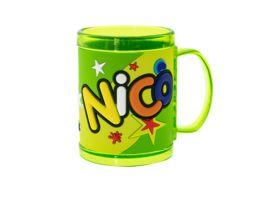 H H Namensbecher Nico
