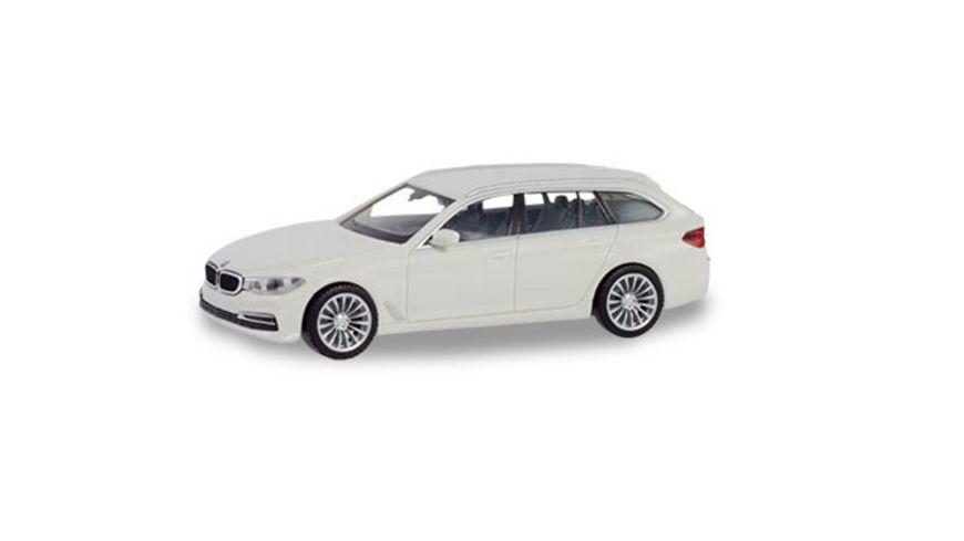 Herpa 420389 BMW 5er Touring alpinweiss