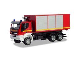 Herpa 094610 Iveco Trakker Wechsellader LKW Feuerwehr