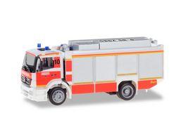 Herpa 094634 Mercedes Benz Axor Ruestwagen RW2 Feuerwehr Duesseldorf