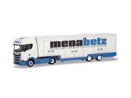 Herpa 310390 Scania CS 20 HD Koffer Sattelzug Menabetz