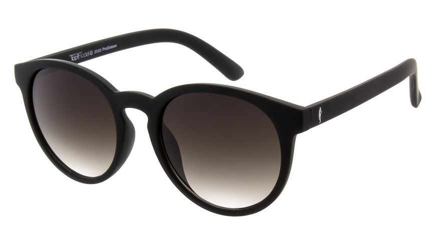 GNTM Sonnenbrille schwarz mit gummierter Oberflaeche