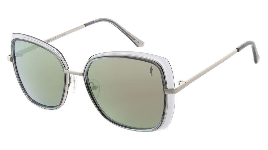 GNTM Sonnenbrille grau mit lilanem flash