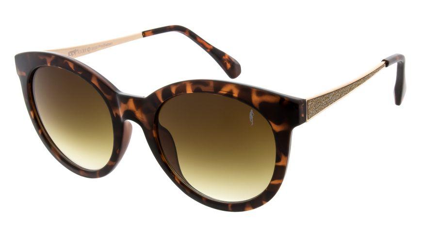 GNTM Sonnenbrille demi brown mit goldenen Buegeln