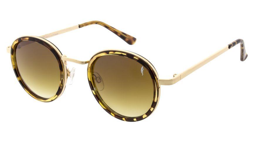 GNTM Sonnenbrille Havanna Braun mit Metall Bügel