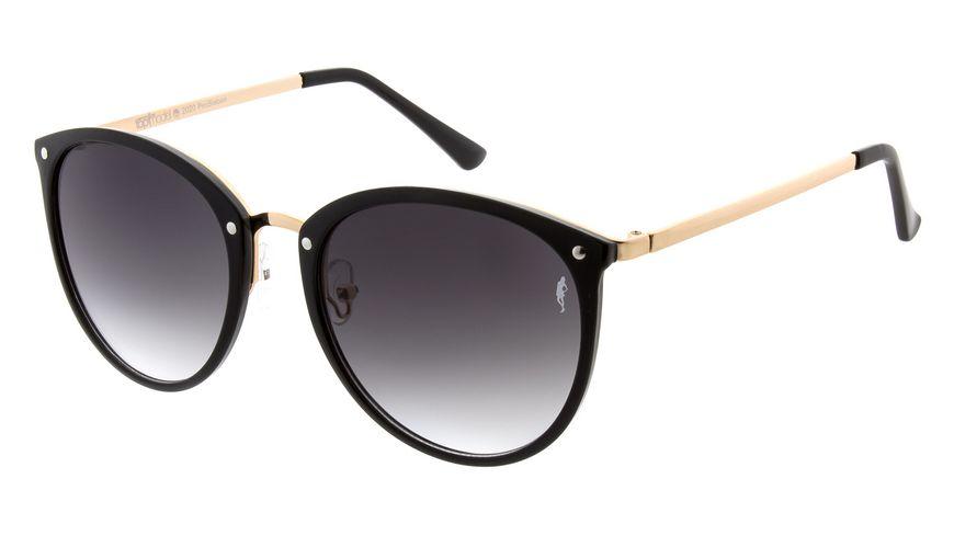 GNTM Sonnenbrille schwarz mit goldenen Metallbuegel
