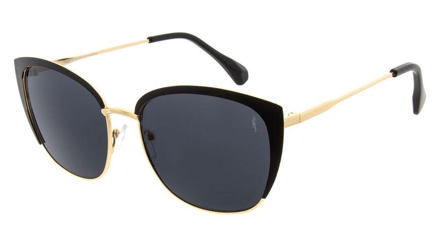 GNTM Sonnenbrille aus Metall in Schwarz/Gold