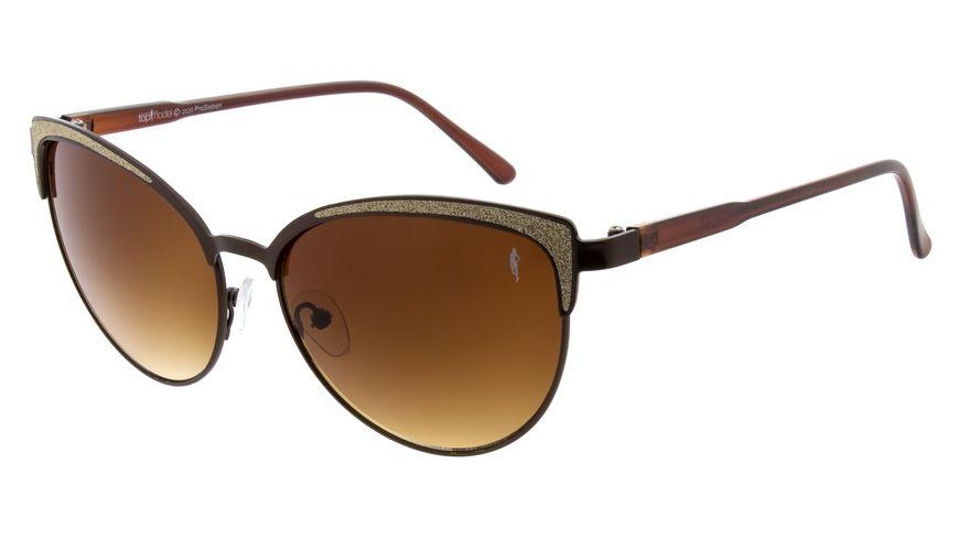 GNTM Sonnenbrille braun mit glitzer Applikationen