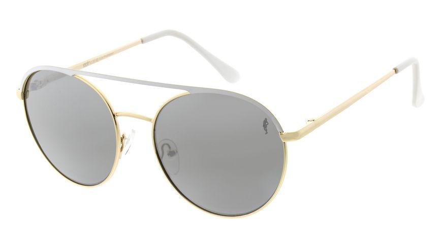 GNTM Sonnenbrille gold mit weißer Applikation