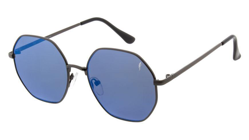 GNTM Sonnenbrille grau mit blauspiegel Glaeser