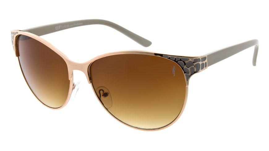 GNTM Sonnenbrille Rosegold mit grauen Bügel