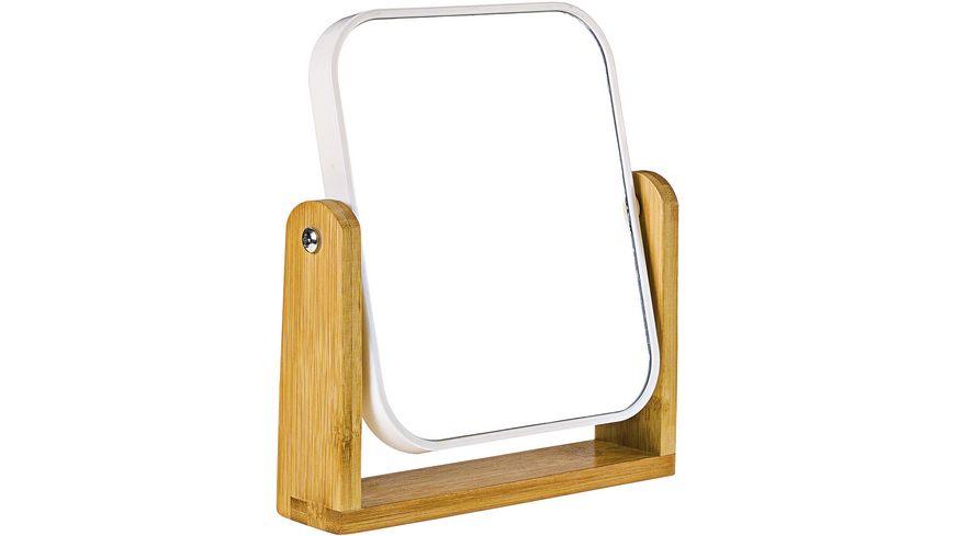 Standspiegel Kunststoff Bambus 20 5 x 18 5 x 4 5 cm