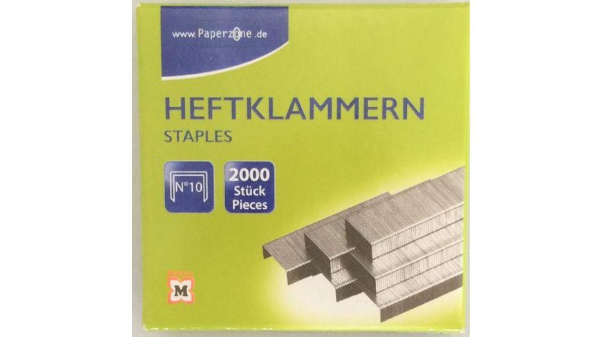 PAPERZONE Heftklammern N°10 2000 Stück