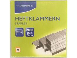 PAPERZONE Heftklammern N 10 2000 Stueck