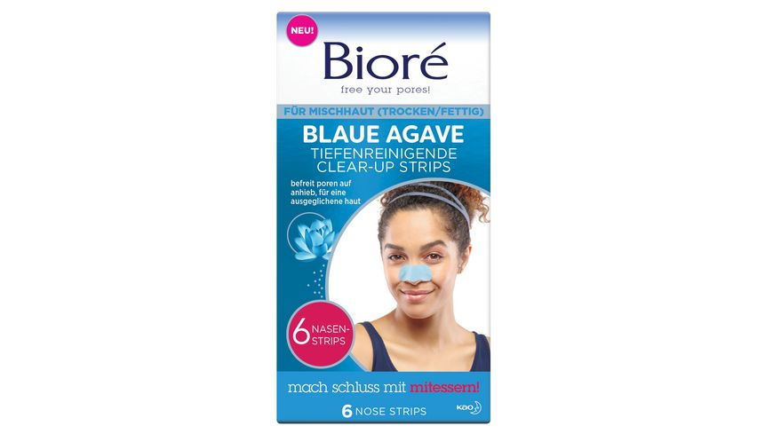 Biore tiefenreinigende Clear Up Strips mit blauer Agave