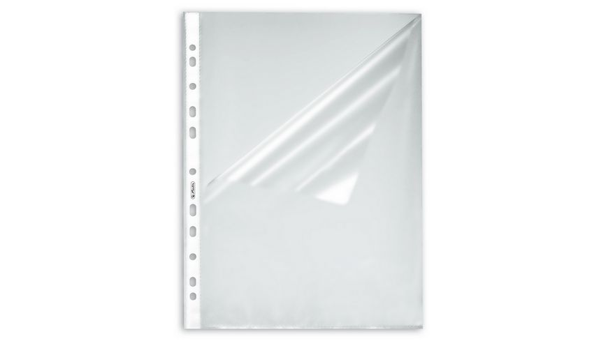Prospekthülle A4 Standard genarbt o+s offen 10er Pack