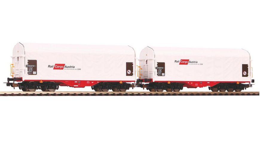 PIKO 58365 2er Set Schiebeplanenwagen Shimmns Rail Cargo Austria