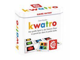 Game Factory kwatro Das grosse Spiel in der kleinen Dose