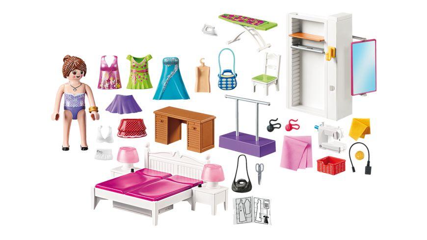 PLAYMOBIL 70208 Dollhouse Schlafzimmer mit Naehecke