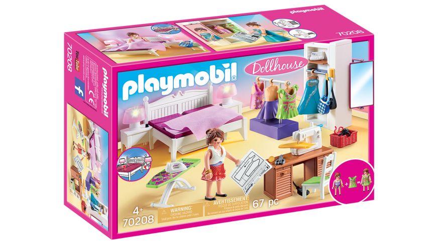 PLAYMOBIL 70208 - Dollhouse - Schlafzimmer mit Nähecke