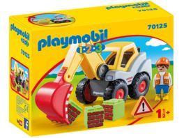 PLAYMOBIL 70125 1 2 3 Schaufelbagger