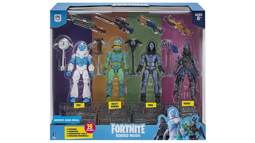 Jazwares Fortnite Squad Modus 4er Figuren Pack